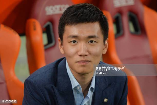 Steven Zhang during the Italian Serie A football match between AS Roma and FC Inter at the Olympic Stadium in Rome on august 26 2017
