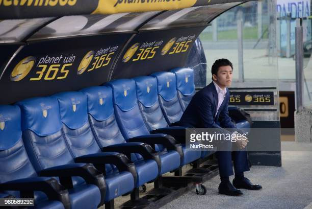 Steven Zhang during the Italian Serie A football match between S.S. Lazio and F.C. Inter at the Olympic Stadium in Rome, on may 20, 2018.
