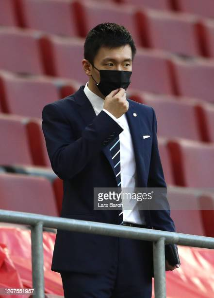 Steven Zhang, President of FC Internazionale looks on prior to the UEFA Europa League Final between Seville and FC Internazionale at...