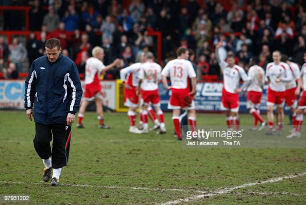 Stevenage Borough manager Graham Westley during the Stevenage Borough and Kidderminster Harriers FA Trophy Cup Semi Final 2nd leg match at Broadhall...