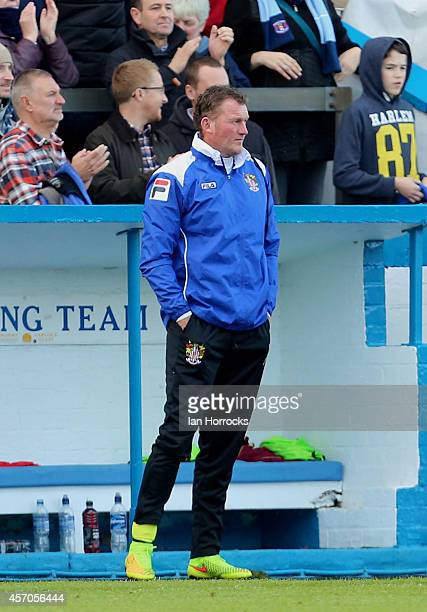 Stevenage substitute goal keeper Dave Beasant during the Sky Bet League Two match between Carlisle United and Stevenage FC at Brunton Park on October...