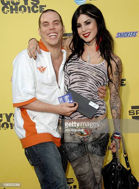 Steve-O and Kat Von D during First Annual Spike TV's Guys Choice - Arrivals at Radford Studios in Studio City, California, United States.