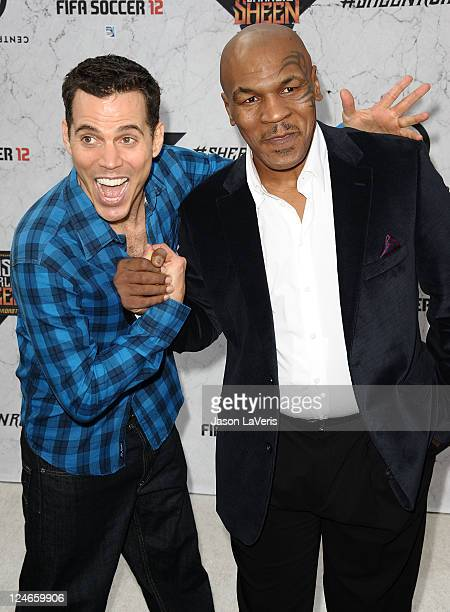 SteveO and Mike Tyson attend Comedy Central's Roast of Charlie Sheen at Sony Studios on September 10 2011 in Los Angeles California
