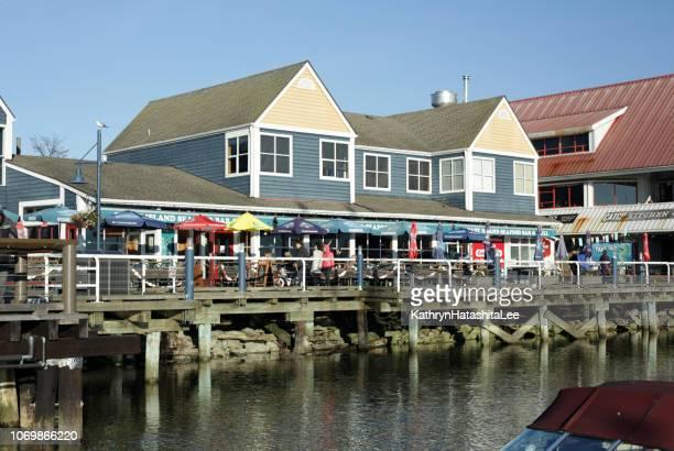 steveston fishing village, british columbia, canada - richmond british columbia stock photos and pictures