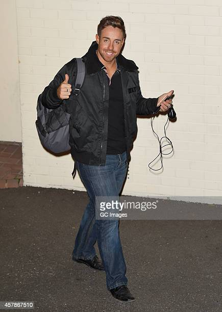 Stevi Ritchie leaves the X Factor studio on October 25 2014 in London England