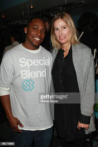 Stevie Bell and director Tamara Davis attend the 'Jean Michel Basquiat The Radiant Child' premiere party and dinner at the Green Lodge Supper Club on...