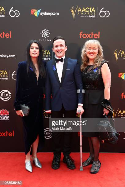 Stevie CruzMartin Daniel Monks and Annie MurtaghMonks attend the 2018 AACTA Awards Presented by Foxtel at The Star on December 5 2018 in Sydney...