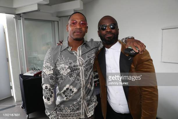 Stevie J and BryanMichael Cox attend the Bryan Michael Cox 16th Annual Music And Memory PreGrammy Brunch 2020 at SLS Hotel on January 26 2020 in...