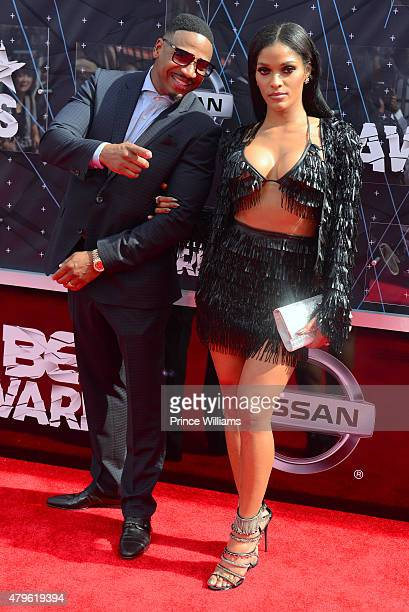 Stevie J and Joseline Hernandez attend the 2015 BET Awards on June 28 2015 in Los Angeles California