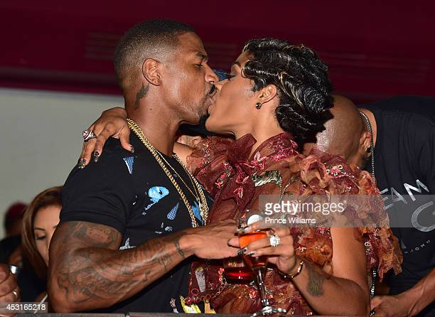 Stevie J and Joseline Hernandez attend the Bronner Brothers official after party at Velvet Room on August 3 2014 in Chamblee Georgia