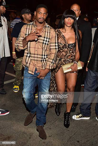 Stevie J and Joseline Hernandez attend the Love Hip Hop Takeover at Reign Nightclub on June 12 2014 in Atlanta Georgia