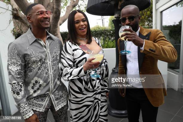 Stevie J Faith Evans and BryanMichael Cox attend the Bryan Michael Cox 16th Annual Music And Memory PreGrammy Brunch 2020 at SLS Hotel on January 26...