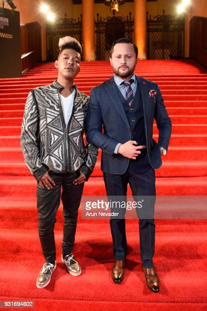 Stevie Mackey and Oskar Rivera at Los Angeles Fashion Week Powered by Art Hearts Fashion LAFW FW/18 10th Season Anniversary Backstage and Front Row...