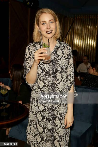 Stevie Martin attends a party hosted by Gina Martin and Ryan Whelan to celebrate the Royal ascent into law of the Voyeurism Bill making upskirting...