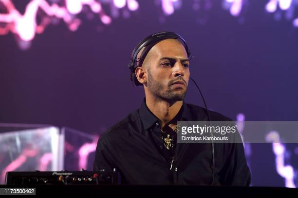 Stevie Martinez Jr of The Martinez Brothers performs as DKNY turns 30 with special live performances by Halsey and The Martinez Brothers at St Ann's...
