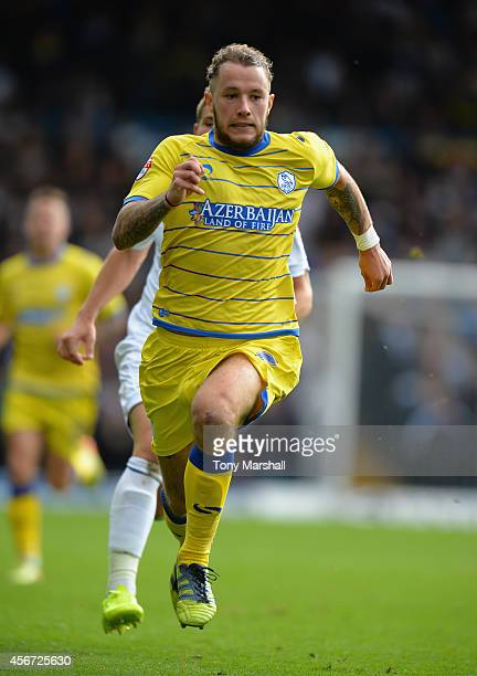 Stevie May of Sheffield Wednesday during the Sky Bet Championship match between Leeds United and Sheffield Wednesday at Elland Road on October 4 2014...