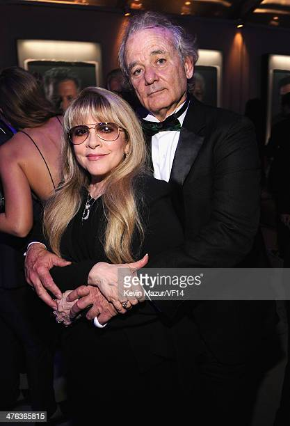 Stevie Nicks and Bill Murray attend the 2014 Vanity Fair Oscar Party Hosted By Graydon Carter on March 2 2014 in West Hollywood California