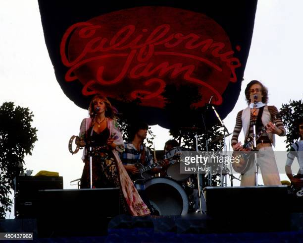 Stevie Nicks and Bob Welch performing together at the 2nd Cal Jam at the Ontario Speedway in Ontario California on March 18 1978