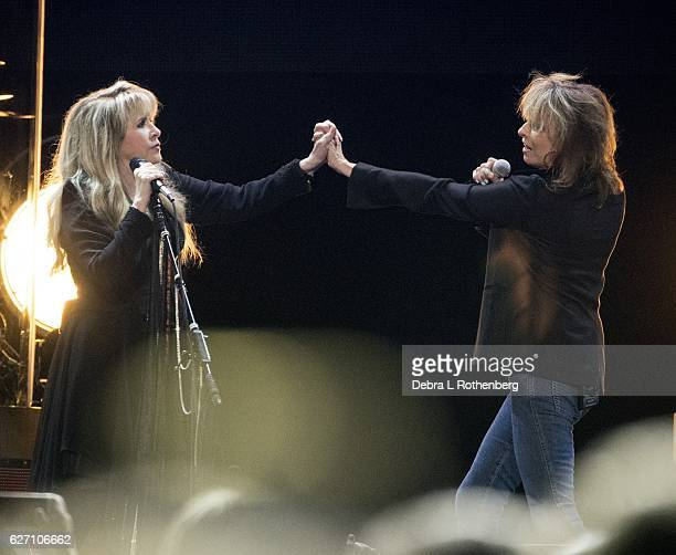 Stevie Nicks and Chrissie Hynde perform live in concert at Madison Square Garden on December 1 2016 in New York City
