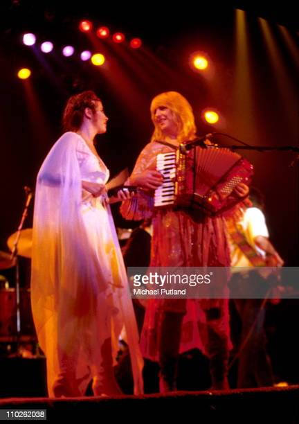 Stevie Nicks and Chrsitine McVie of Fleetwood Mac performs on stage, New York, 1979.