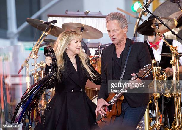 Stevie Nicks and Lindsey Buckingham of Fleetwood Mac perform on NBC's Today at the NBC's TODAY Show on October 9 2014 in New York New York