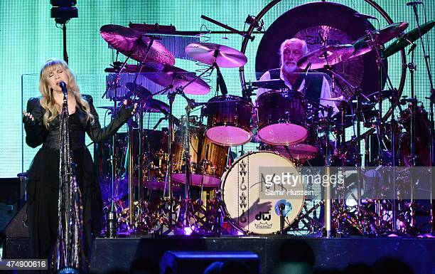 Stevie Nicks and Mick Fleetwood of Fleetwood Mac perform live at The O2 Arena on May 27 2015 in London England