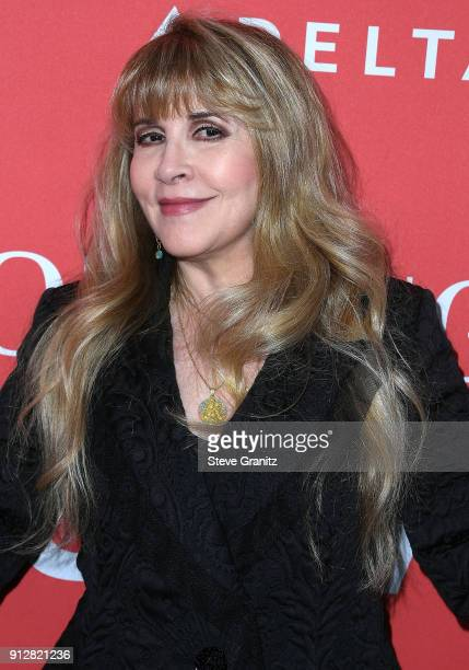 Stevie Nicks arrives at the 60th Annual GRAMMY Awards MusiCares Person Of The Year Honoring Fleetwood Mac on January 26 2018 in New York City
