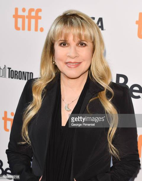 Stevie Nick's arrives at the 'In Your Dreams' Canadian Premiere at TIFF Bell Lightbox on April 15 2013 in Toronto Canada