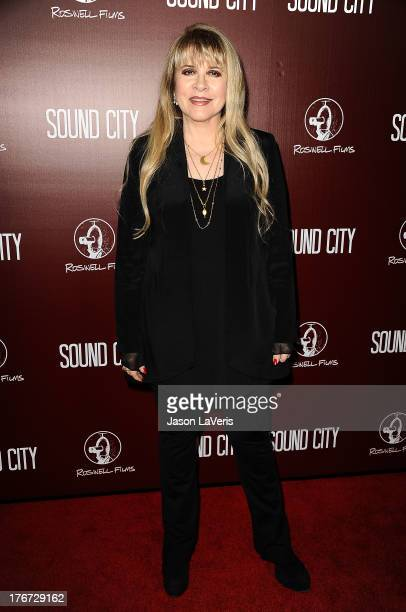 Stevie Nicks attends the premiere of Sound City at ArcLight Cinemas Cinerama Dome on January 31 2013 in Hollywood California