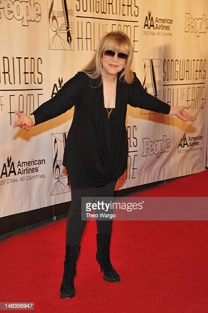 Stevie Nicks attends the Songwriters Hall of Fame 43rd Annual induction and awards at The New York Marriott Marquis on June 14, 2012 in New York City.