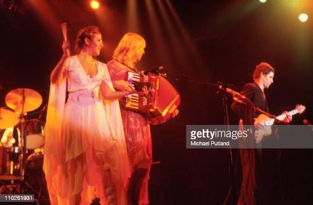 Stevie Nicks Chrsitine McVie and Lindsey Buckingham of Fleetwood Mac performs on stage New York 1979
