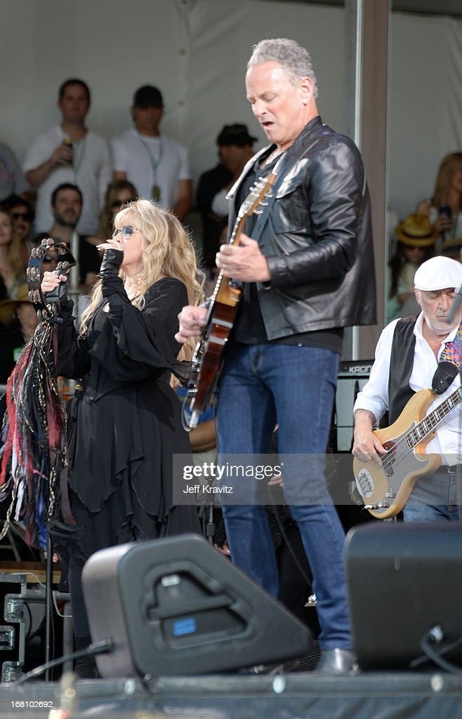 Stevie Nicks, Lindsey Buckingham and John McVie of Fleetwood