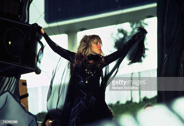 Stevie Nicks of Fleetwood Mac performs live at The Oakland Coliseum in 1977 in Oakland, California.