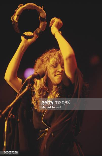 Stevie Nicks of Fleetwood Mac performs live on stage with the group circa 1978.