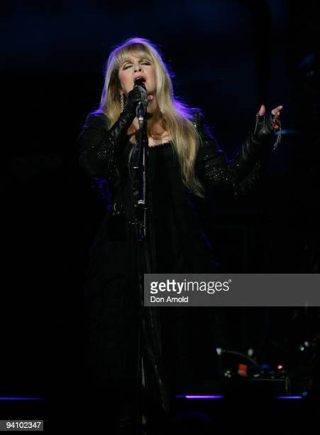 Stevie Nicks of Fleetwood Mac performs on stage in concert at Acer Arena on December 7, 2009 in Sydney, Australia.