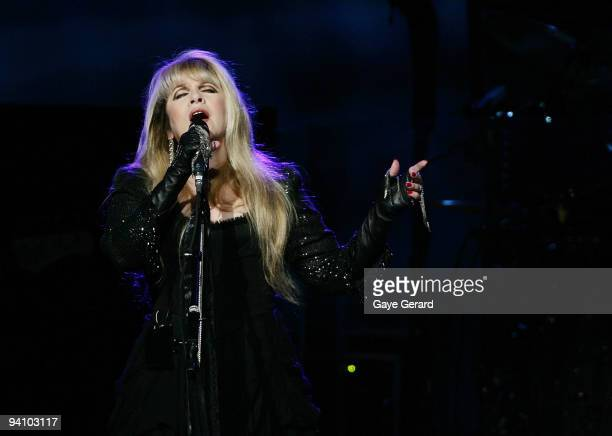 Stevie Nicks of Fleetwood Mac performs on stage in concert at Acer Arena on December 7 2009 in Sydney Australia