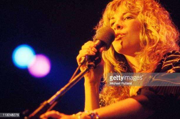 Stevie Nicks of Fleetwood Mac performs on stage, New York, 1977.