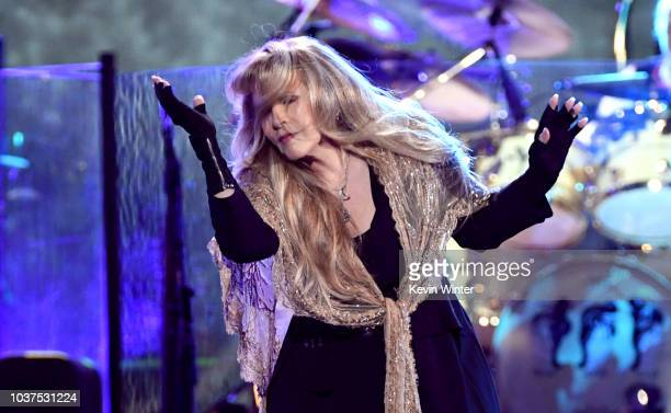 Stevie Nicks of Fleetwood Mac performs onstage during the 2018 iHeartRadio Music Festival at TMobile Arena on September 21 2018 in Las Vegas Nevada