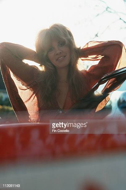 Stevie Nicks, of Fleetwood Mac, posing for a portrait, in New Haven, Connecticut, USA, in October 1975.