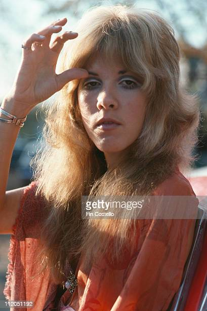 Stevie Nicks of Fleetwood Mac posing for a portrait in New Haven Connecticut USA in October 1975