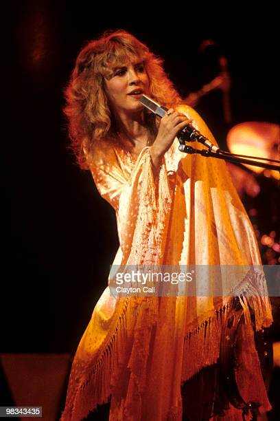 Stevie Nicks performing at the Oakland Coliseum in Oakland California on her first solo tour on December 3 1981