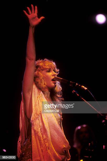 Stevie Nicks performing during her first solo tour at the Oakland Coliseum on December 3 1981