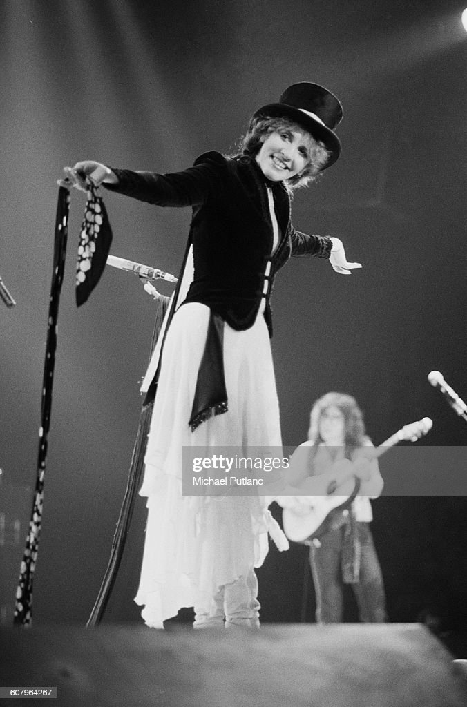 Stevie Nicks performing with Fleetwood Mac at one of six shows at Wembley Arena, London, between 20th - 27th June 1980. The concerts are part of the Tusk Tour.