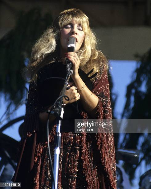 Stevie Nicks performing with Fleetwood Mac at the Santa Barbara Bowl in Santa Barbara California on May 8 1977