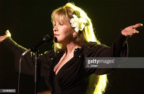 Stevie Nicks performs at Stormy Weather 2002 to benefit The Walden Woods Project