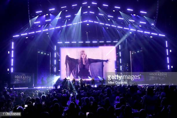 Stevie Nicks performs at the 2019 Rock & Roll Hall Of Fame Induction Ceremony - Show at Barclays Center on March 29, 2019 in New York City.