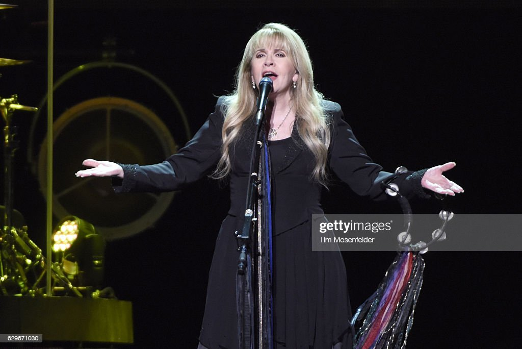 Stevie Nicks performs during her '24 Karat Gold Tour' at Golden 1 Center on December 13, 2016 in Sacramento, California.