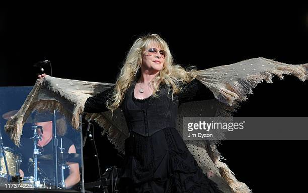 Stevie Nicks performs live on stage during the third day of the 'Hard Rock Calling' music festival at Hyde Park on June 26, 2011 in central London,...