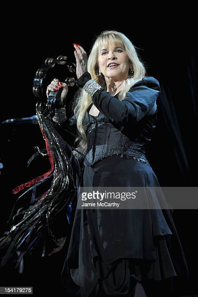 Stevie Nicks performs on stage at the Elton John AIDS Foundation's 11th Annual An Enduring Vision Benefit at Cipriani Wall Street on October 15 2012...