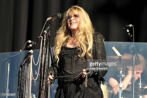 Stevie Nicks performs on stage during the third and final day of Hard Rock Calling 2011 at Hyde Park on June 26 2011 in London United Kingdom